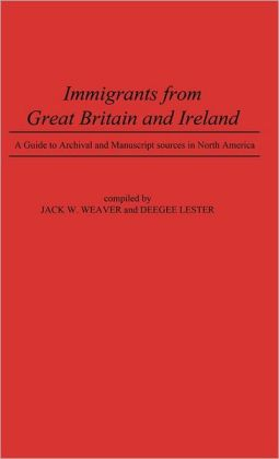 Immigrants From Great Britain And Ireland