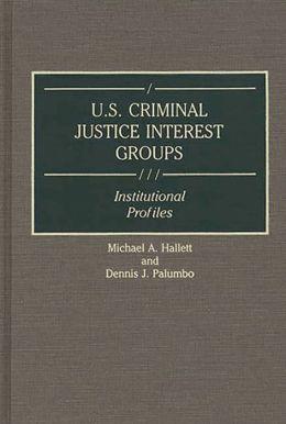 U.S. Criminal Justice Interest Groups