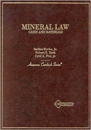 Cases and Materials on Mineral Law