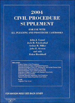 2004 Civil Procedure Supplement (American Casebook Series)