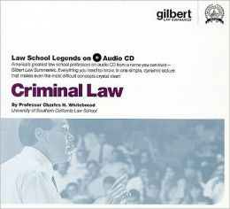 Criminal Law, 2005 ed. (Law School Legends Audio Series)