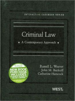 Criminal Law:A Contemporary Approach