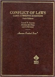 Conflict of Laws:Cases, Comments, Questions