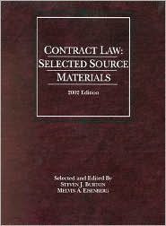 Burton and Eisenberg's Contract Law: Selected Source Materials