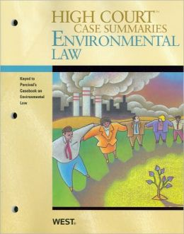Environmental Law, Keyed to Percival