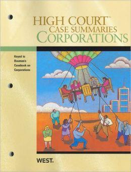 Corporations, Keyed to Bauman