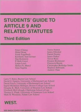 Students' Guide to Article 9 and Related Statutes