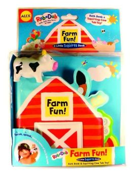 Farm Fun!: Bath Book and Squirting Tub Toy
