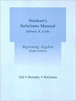 Beginning Algebra Student's Solution Manual