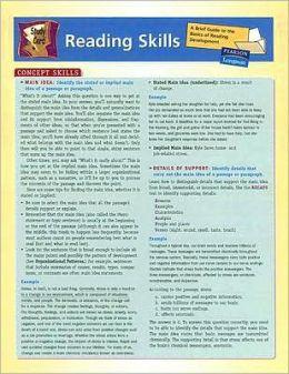 Reading Skill Study Chart