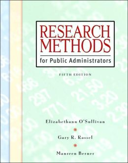 Research Methods for Public Administration