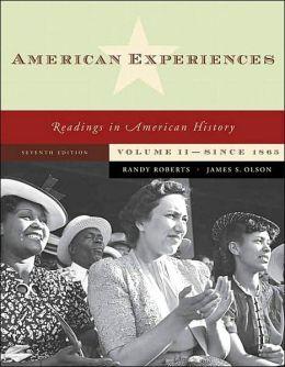 American Experiences, Volume II