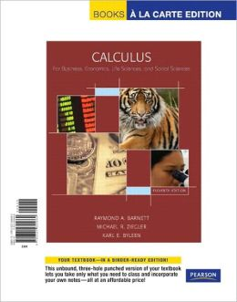 Calculus for Business, Economics, Life Sciences & Social Sciences, Books a la Carte Edition