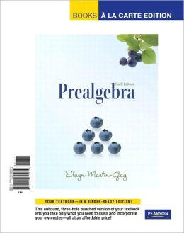 Prealgebra, Books a la Carte Edition