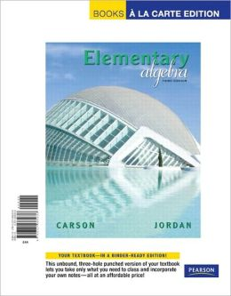 Elementary Algebra, Books a la Carte Edition