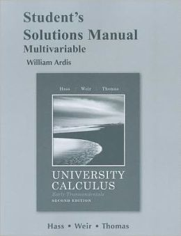 Student's Solutions Manual for University Calculus, Early Transcendentals, Multivariable