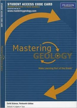 MasteringGeology -- Standalone Access Card -- for Earth Science