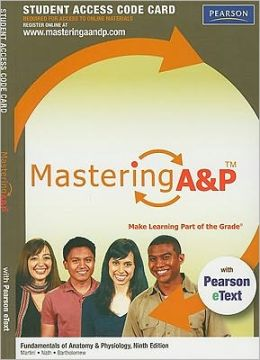 MasteringA&P with Pearson eText Student Access Code Card for Fundamentals of Anatomy & Physiology