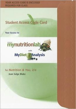 MyNutritionLab with MyDietAnalysis -- Standalone Access Card -- for Nutrition & You