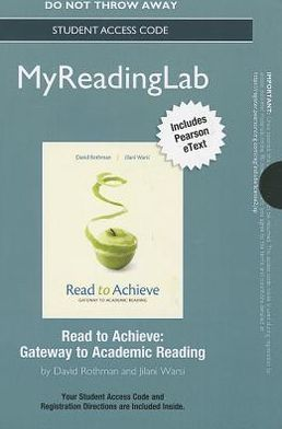 NEW MyReadingLab with Pearson eText -- Standalone Access Card -- for Read to Achieve: Gateway to Academic Reading