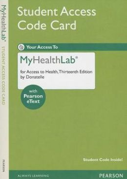 MyHealthLab with Pearson eText -- Standalone Access Card -- for Access to Health