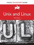 Book Cover Image. Title: Unix and Linux:  Visual QuickStart Guide, Author: Eric J. Ray