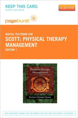 Physical Therapy Management - Pageburst Digital Book (Retail Access Card)