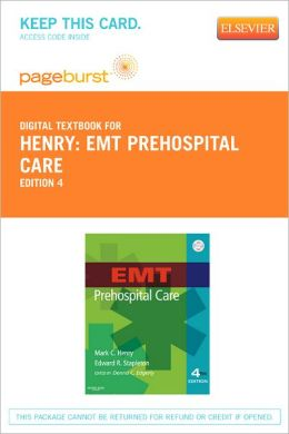 EMT Prehospital Care - Pageburst Digital Book (Retail Access Card)