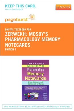 Mosby's Pharmacology Memory NoteCards - Pageburst Digital Book (Retail Access Card):