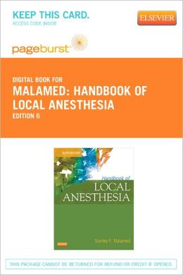 Handbook of Local Anesthesia - Pageburst Digital Book (Retail Access Card)