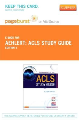 ACLS Study Guide - Pageburst Digital Book (Retail Access Card)