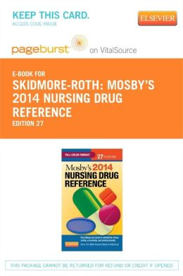 Mosby's 2014 Nursing Drug Reference - Pageburst E-Book on VitalSource (Retail Access Card)