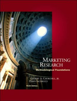 Marketing Research: Methodological Foundations [With Infotrac]