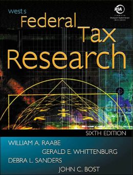 West's Federal Tax Research with Checkpoint and Becker CD-ROM
