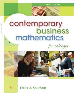 Contemporary Business Mathematics for Colleges, Brief Edition (Book Only)