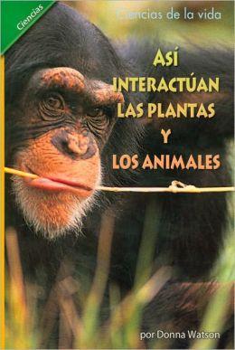 Asi Interactuan: Las Plantas Y Los Animales (6 Pack)