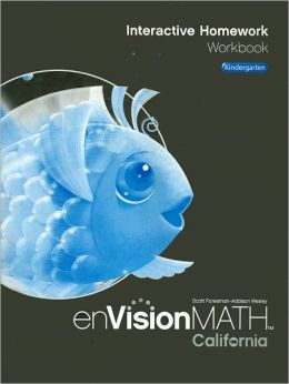 enVisionMath California Interactive Homework Workbook, Kindergarten