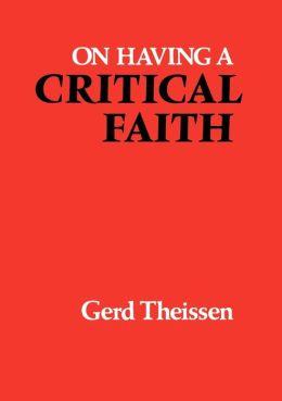 On Having a Critical Faith