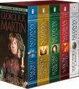 Book Cover Image. Title: George R. R. Martin's A Game of Thrones 5-Book Boxed Set (Song of Ice and Fire series):  A Game of Thrones, A Clash of Kings, A Storm of Swords, A Feast for Crows, and A Dance with Dragons, Author: George R. R. Martin