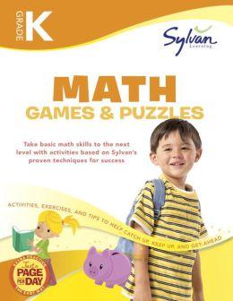 Kindergarten Math Games & Puzzles (Sylvan Workbooks)