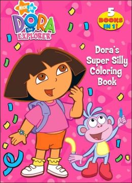 Doras Super Silly Coloring Book By Golden Books