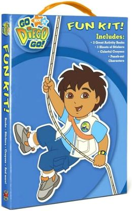 Go Diego, Go! Fun Kit! [With 3 Sheets of Stickers and Crayons and Punch-Out Characters and 3 Activity Books]