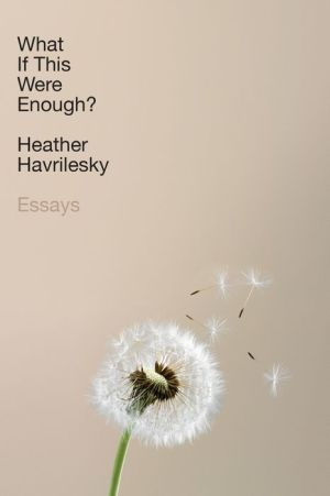 Book What If This Were Enough?: Essays