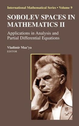 Sobolev Spaces in Mathematics II: Applications in Analysis and Partial Differential Equations
