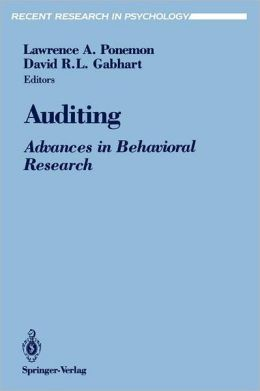 Auditing: Advances in Behavioral Research
