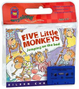Five Little Monkeys Jumping on the Bed Book & Cassette