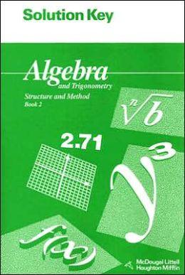 McDougal Littell Structure & Method: Solution Key Book 2