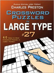 Crossword Puzzles in Large Type