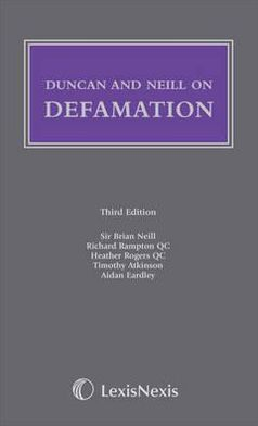 Duncan and Neill on Defamation