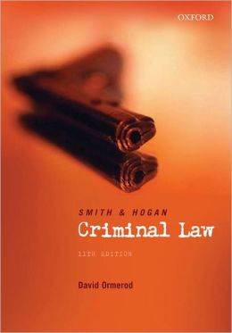 Smith and Hogan Criminal Law, 10th Edition